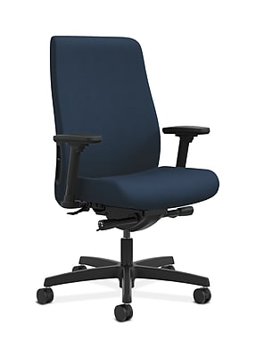 HON Endorse Fabric Computer and Desk Office Chair, Adjustable Arms, Ocean (HONLWU2AUR96)