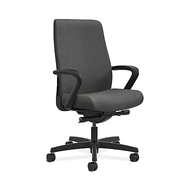 HON Endorse Fabric Computer and Desk Office Chair, Adjustable Arms, Gray (HONLWU2FAB12)