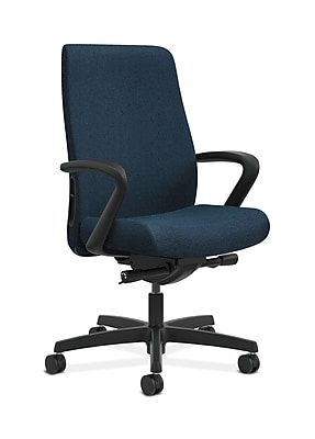 HON Endorse Fabric Computer and Desk Office Chair, Adjustable Arms, Blue (HONLWU2FAB90)