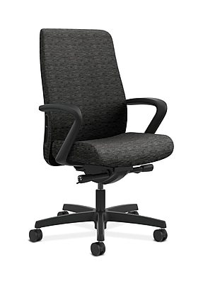HON Endorse Fabric Computer and Desk Office Chair, Adjustable Arms, Onyx (HONLWU2FAI10)