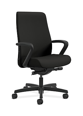 HON HONLWU2FCU10 Endorse Collection Mid-Back Office/Computer Chair, Fixed Arms, Black Fabric