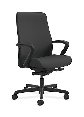 HON Endorse Fabric Computer and Desk Office Chair, Adjustable Arms, Iron Ore (HONLWU2FCU19)