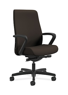 HON Endorse Fabric Computer and Desk Office Chair, Adjustable Arms, Espresso (HONLWU2FCU49)