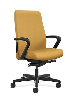 HON Endorse Fabric Computer and Desk Office Chair, Fixed Arms, Mustard (HONLWU2FNR26)