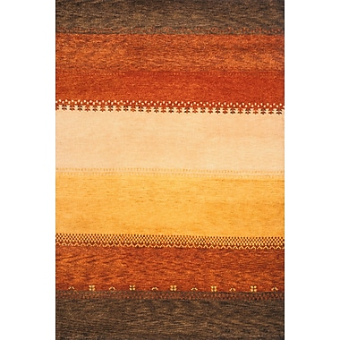 Momeni Desert Gabbeh Hand-Knotted Red/Yellow Area Rug; 8' x 11'