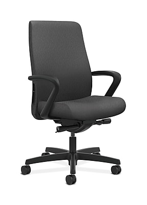 HON Endorse Fabric Computer and Desk Office Chair, Fixed Arms, Charcoal (HONLWU2FNT19)