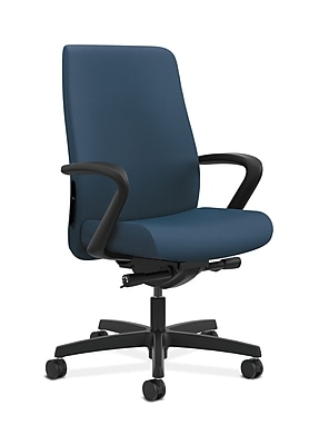 HON Endorse Fabric Computer and Desk Office Chair, Fixed Arms, Jet (HONLWU2FSX05)