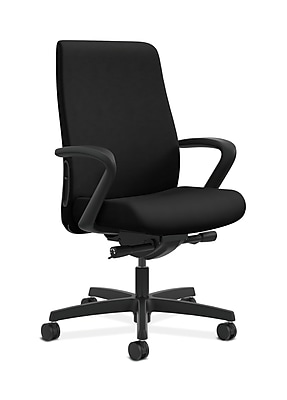 HON Endorse Fabric Computer and Desk Office Chair, Fixed Arms, Black (HONLWU2FUR10)