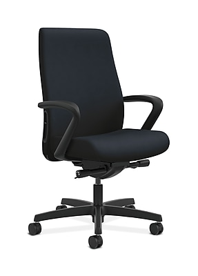 HON Endorse Fabric Computer and Desk Office Chair, Fixed Arms, Navy (HONLWU2FWP37)