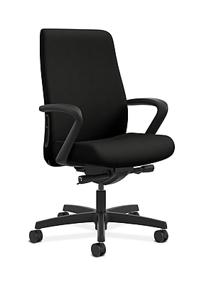 HON Endorse Fabric Computer and Desk Office Chair, Fixed Arms, Black (HONLWU2FWP40)