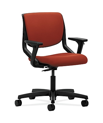 HON Motivate Plastic Computer and Desk Office Chair, Adjustable Arms, Onyx (HONMT102CU42)