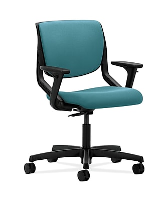 HON Motivate Fabric Computer and Desk Office Chair, Adjustable Arms, Glacier (HONMT102CU96)