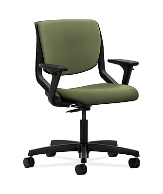 HON Motivate Fabric Computer and Desk Office Chair, Adjustable Arms, Onyx (HONMT102NR74)