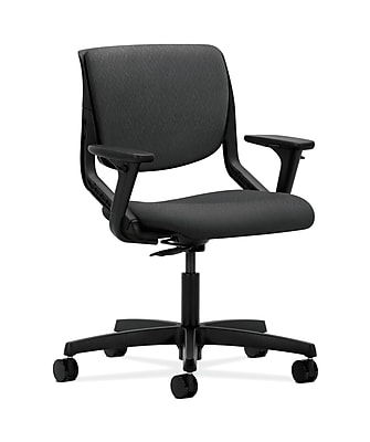 HON HONMT102NT19 Motivate Onyx Shell Charcoal Upholstered Back Office/Computer Chair with Adjustable Arms