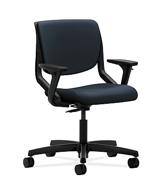 HON Motivate Plastic Computer and Desk Office Chair, Adjustable Arms, Blue (HONMT102WP37)