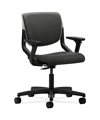 HON Motivate Fabric Computer and Desk Office Chair, Adjustable Arms, Gray (HONMT103AB12)