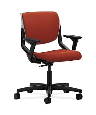 HON Motivate Fabric Computer and Desk Office Chair, Adjustable Arms, Platinum (HONMT103CU42)