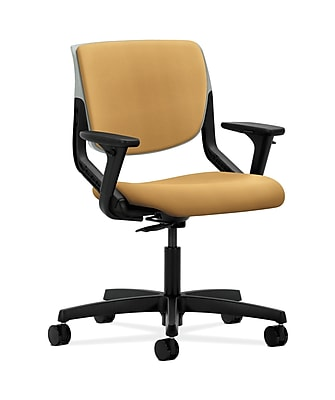 HON Motivate Fabric Computer and Desk Office Chair, Adjustable Arms, Mustard (HONMT103NR26)