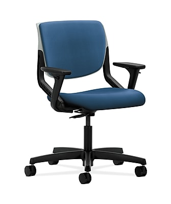 HON Motivate Fabric Computer and Desk Office Chair, Adjustable Arms, Platinum (HONMT103NR90)