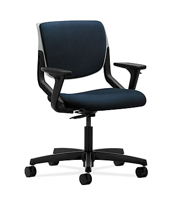 HON HONMT103NT90 Motivate Upholstered Back Office/Computer Chair, Adjustable Arms, Platinum Shell, Mariner Fabric