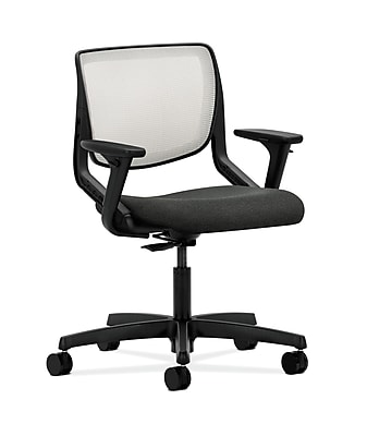 HON Motivate Fabric Computer and Desk Office Chair, Adjustable Arms, Gray (HONMT10FAB12)