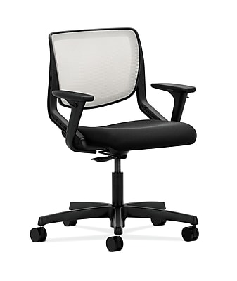 HON Motivate Fabric Computer and Desk Office Chair, Adjustable Arms, Black (HONMT10FCU10)