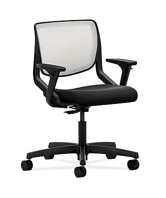 HON HONMT10FCU10 Fabric-Upholster ilira -Stretch Mesh Back Office/PC Chair, Adj. Arms, Onyx Shell
