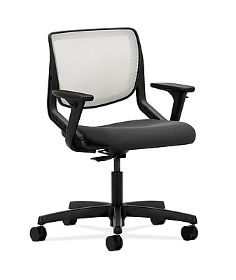 HON Motivate Fabric Computer and Desk Office Chair, Adjustable Arms, Iron Ore (HONMT10FCU19)