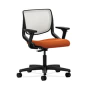 HON Motivate Fabric Computer and Desk Office Chair, Adjustable Arms, Tangerine (HONMT10FCU46)