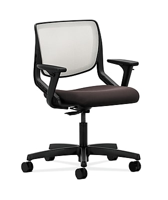 HON Motivate Fabric Computer and Desk Office Chair, Adjustable Arms, Espresso (HONMT10FCU49)