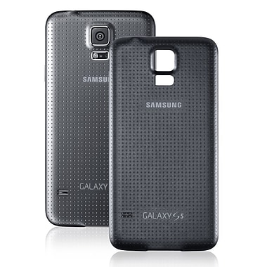 Samsung Refurbished OEM Original Battery Door Back Case, Black G900TDR for Samsung Galaxy S5 (1901164)