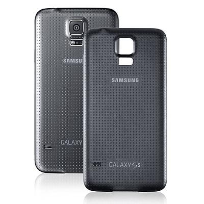 Samsung Refurbished OEM Original Battery Door Back Case, Black G900TDR for Samsung Galaxy S5 (1901164)