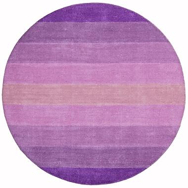 St. Croix Aspect Purple Stripes Area Rug; Round 8'