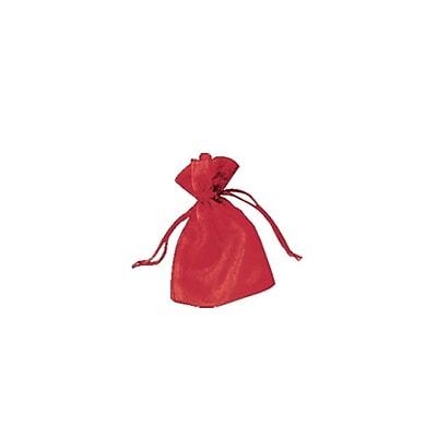 Shamrock Organza Bag, Solid, Red, 4 X 5