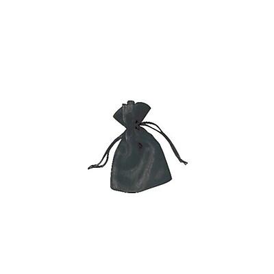 Shamrock Organza Bag, Solid, Black, 4 X 5