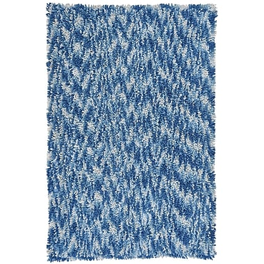 St. Croix Shagadelic Blue Twist Swirl Rug; 3' x 4'