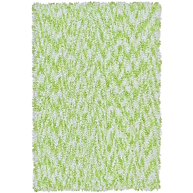 St. Croix Shagadelic Green Twist Swirl Rug; Rectangle 3' x 4'
