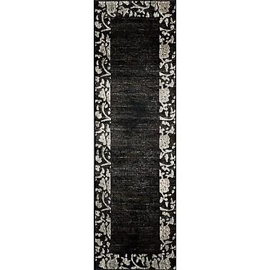 Momeni Dream Charcoal Area Rug; Runner 2'3'' x 7'6''