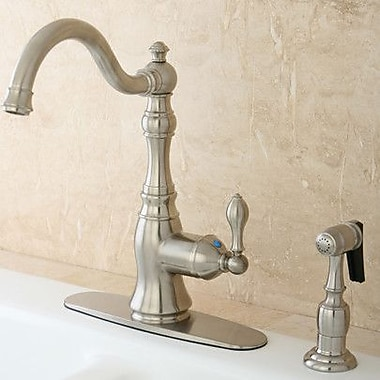 Kingston Brass American Classic Gourmetier Single Handle Kitchen Faucet; Satin Nickel
