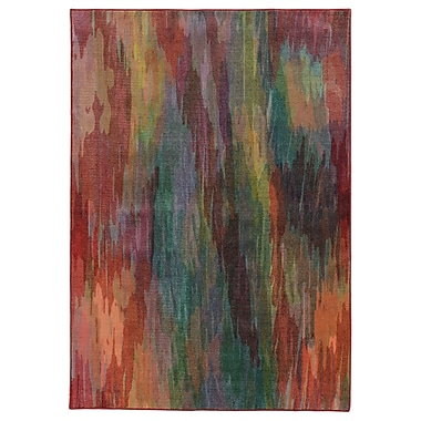 Pantone Universe Prismatic Abstract Red Area Rug; Rectangle 3'5'' x 5'5''