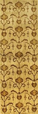 ECARPETGALLERY Ikat Vine Light Brown Abstract Area Rug; Runner 2'8'' x 7'8''