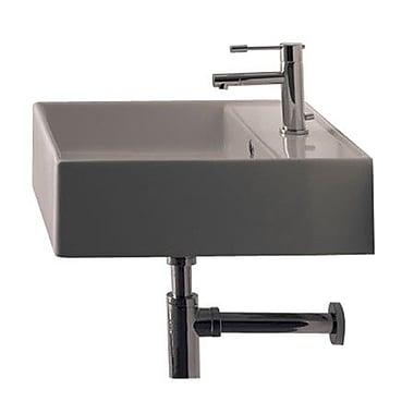 Scarabeo by Nameeks Teorema Ceramic 18'' Wall Mounted Sink w/ Overflow; Single Hole