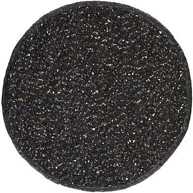 Chandra Art Black Area Rug; Round 4'