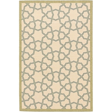 ECARPETGALLERY Tropicana Ivory Indoor/Outdoor Area Rug; Rectangle 4'11'' x 7'5''