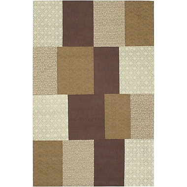 ECARPETGALLERY Collage Brown / Beige Patchwork Area Rug