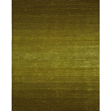 InnerSpace Luxury Products Artistry Dark Green/Citrus Green Center Line Stripe Rug; 8' x 10'