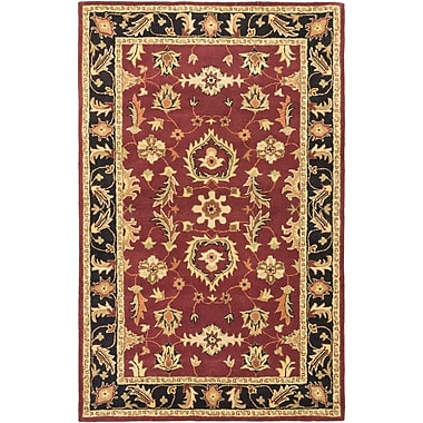 ECARPETGALLERY Timeless Traditional Hand Tufted Red Area Rug
