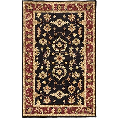 ECARPETGALLERY Timeless Traditional Hand Tufted Black Area Rug
