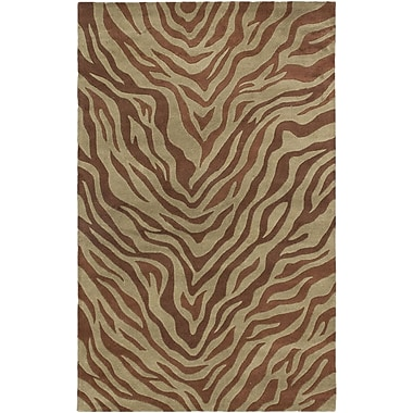 ECARPETGALLERY Trek Casual Hand Tufted Brown Area Rug