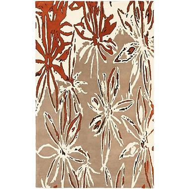 ECARPETGALLERY Abstract Art Modern Hand Tufted Cream Area Rug